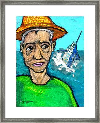 Old Man And The Sea Framed Print by William Depaula
