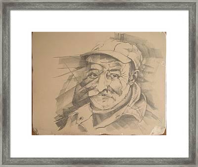 Old Man Framed Print by Curt Sandu Viorel