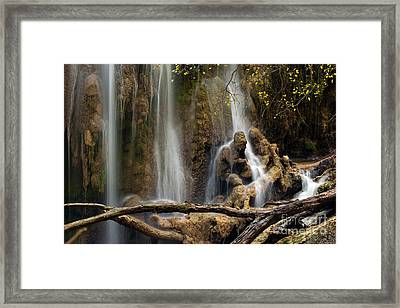 Old Man In The Falls Framed Print by Keith Kapple