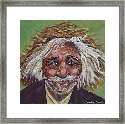 Framed Print featuring the painting Old Man by Pauline  Kretler