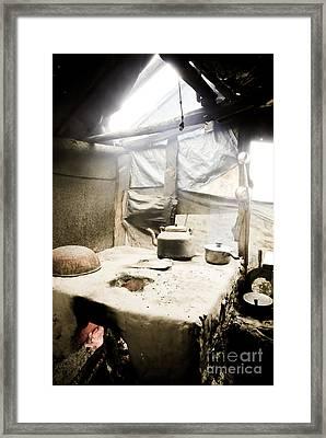 Old Man's Kitchen Framed Print