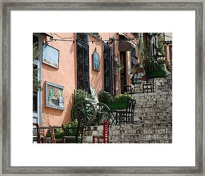 Old Market Framed Print by Ioannis T
