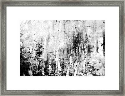 Old Memories Abstract By Laura Gomez -horizontal Size Framed Print by Laura  Gomez