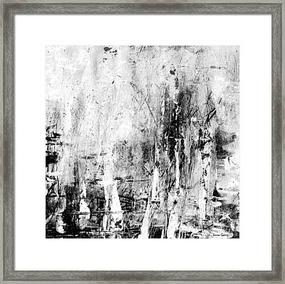 Old Memories -black And White Abstract Art By Laura Gomez -square Size Framed Print by Laura  Gomez