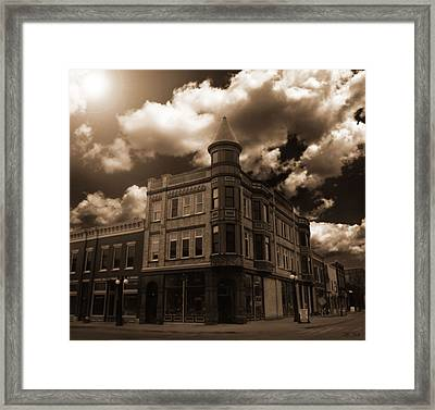 Old Menominee Corner Store Building Framed Print