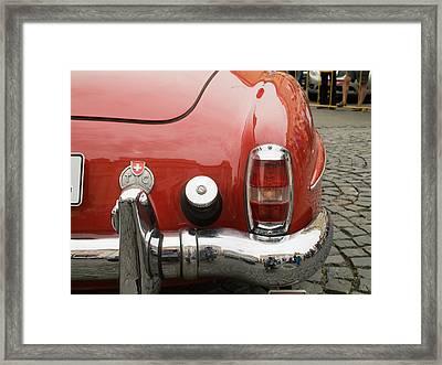 Old Mercede-benz Details Framed Print by Odon Czintos