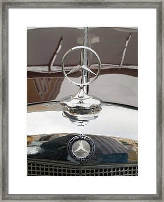 Old Mercedes Logos Framed Print by Odon Czintos