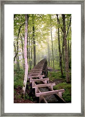 Old Mill Water Trough Framed Print