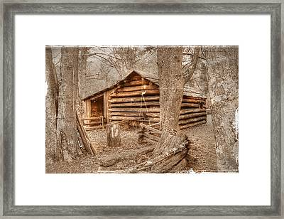 Old Mill Work Cabin Framed Print by Dan Stone