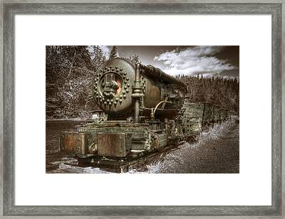 Old Mine Train Banff Framed Print by Diane Dugas