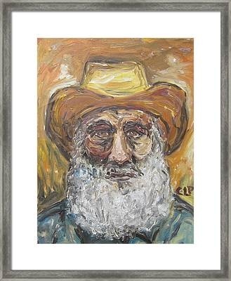 Old Miner From Victor Colorado Framed Print