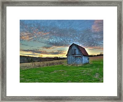 Framed Print featuring the photograph Old Mines Barn by William Fields