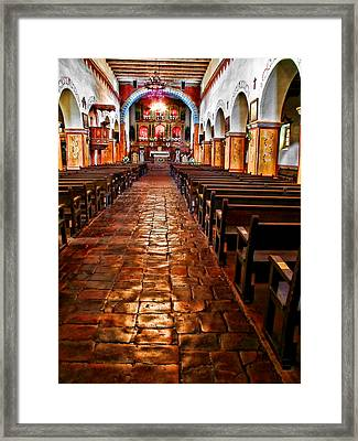 Old Mission Church Framed Print by Jason Abando
