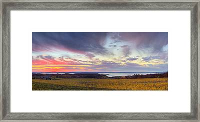 Old Mission Sunset Framed Print by Twenty Two North Photography