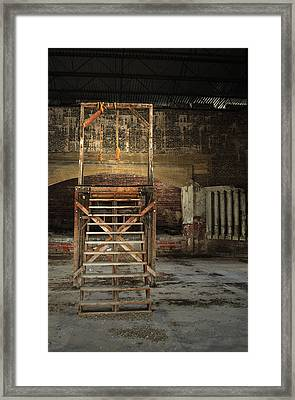 Framed Print featuring the photograph Old Montana Prison by Fran Riley