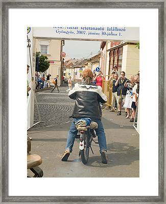 Old Motorcycle Framed Print by Odon Czintos