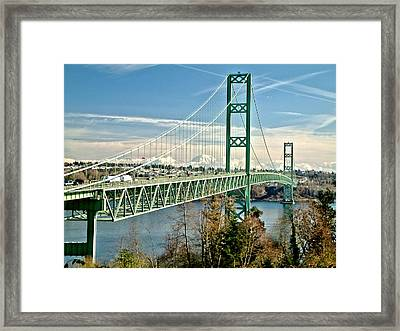 Framed Print featuring the photograph Old Narrows Bridge by Rob Green