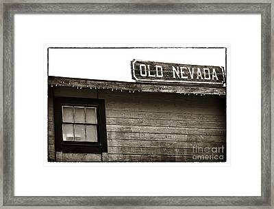 Old Nevada Framed Print by John Rizzuto