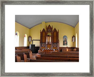 Old Norse Church Framed Print by Rebecca Cearley
