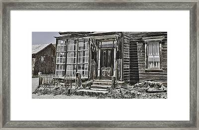 Old Old House Framed Print by Richard Balison