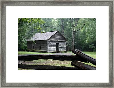 Old One Room Schoolhouse Painting Framed Print