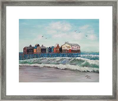 Old Orchard Beach Framed Print by Linda Krider Aliotti