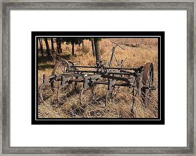 Old Plough Framed Print by Miguel Capelo