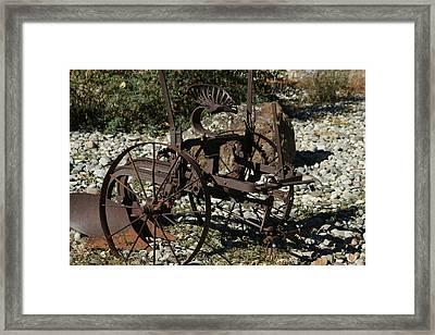 Old Plow 2 Framed Print by Ernie Echols