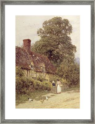 Old Post Office Brook Near Witley Surrey Framed Print by Helen Allingham