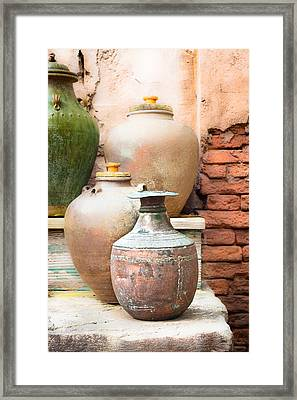 Old Pots Framed Print by Tom Gowanlock