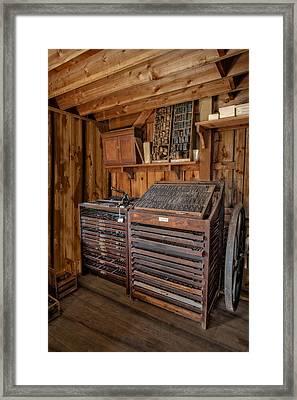 Old Print Shop Framed Print by Susan Candelario