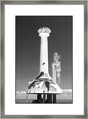 Framed Print featuring the photograph Old Pump In Jerome Az by James Bethanis
