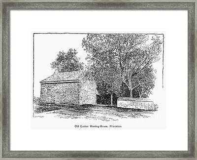 Old Quaker Meeting House Framed Print by Granger
