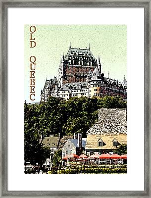 Old Quebec Framed Print by Linda  Parker