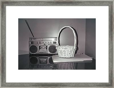 Old Radio And Easter Basket Framed Print by Floyd Smith