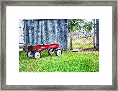 Framed Print featuring the photograph Old Radio Flyer Wagon by Ester  Rogers