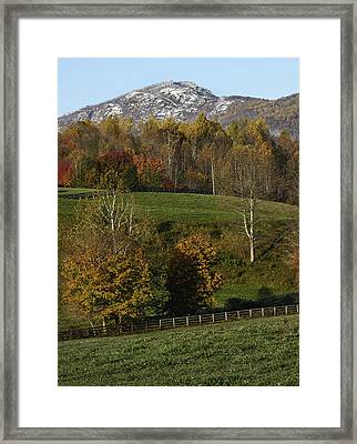 Old Rag Mountain During Fall - Virginia Framed Print