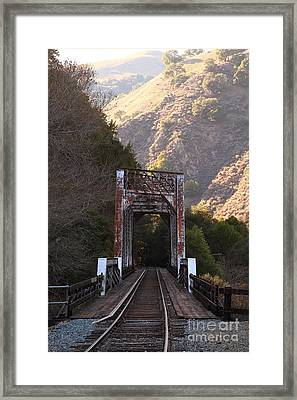 Old Railroad Bridge At Near Historic Niles District In California . 7d10745 Framed Print by Wingsdomain Art and Photography
