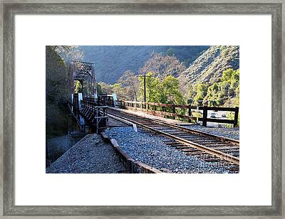 Old Railroad Bridge At Near Historic Niles District In California . 7d12743 Framed Print