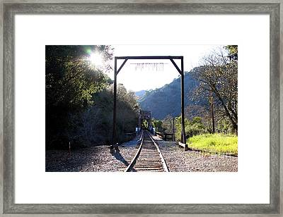 Old Railroad Bridge At Near Historic Niles District In California . 7d12747 Framed Print
