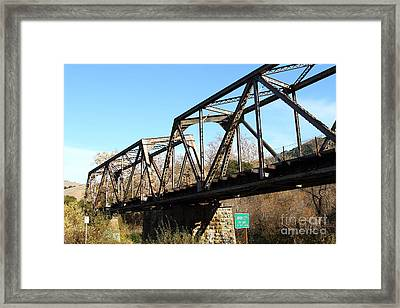 Old Railroad Bridge At Union City Limits Near Historic Niles District In California . 7d10736 Framed Print by Wingsdomain Art and Photography