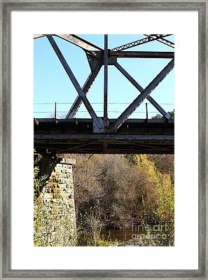 Old Railroad Bridge At Union City Limits Near Historic Niles District In California . 7d10743 Framed Print by Wingsdomain Art and Photography