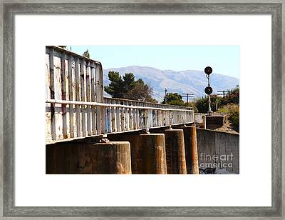 Old Railroad Bridge In Fremont California Near Historic Niles District In California . 7d12669 Framed Print by Wingsdomain Art and Photography