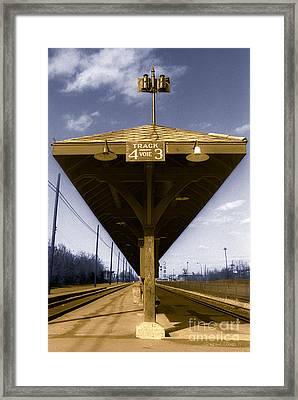 Old Railway Platform Framed Print
