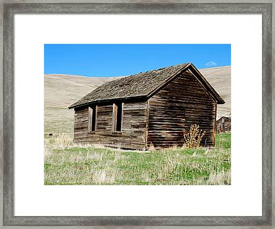 Old Ranch Hand Cabin Framed Print