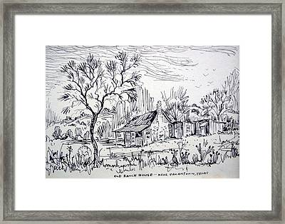 Old Ranch House Framed Print by Bill Joseph  Markowski