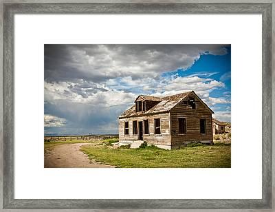 Old Ranch House Framed Print