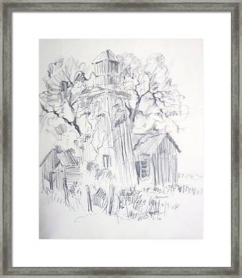 Old Ranch Tower Framed Print by Bill Joseph  Markowski