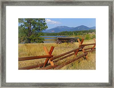 Old Ranch Wagon Framed Print by Marty Koch