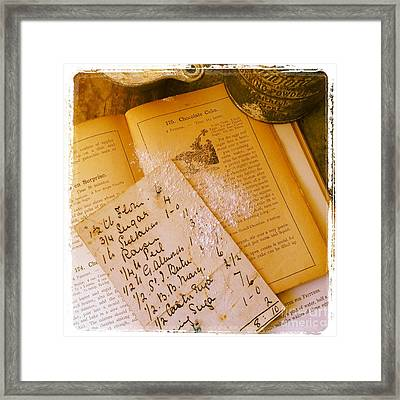 Old Recipes Framed Print by Ruby Hummersmith